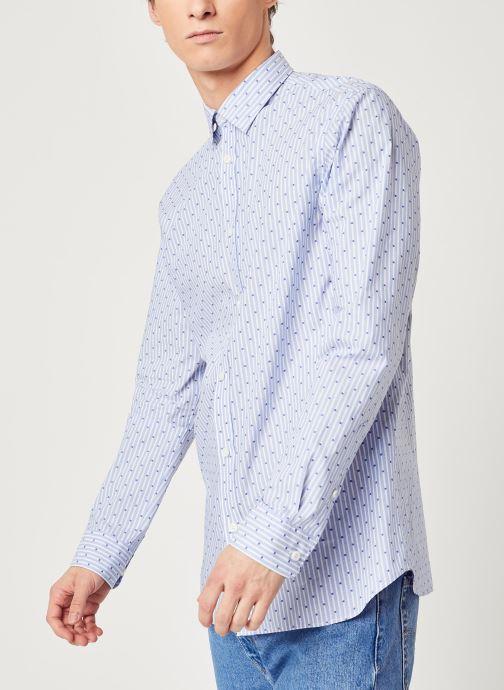 Vêtements Selected Homme Slhregpen Sixten Shirt Bleu vue détail/paire