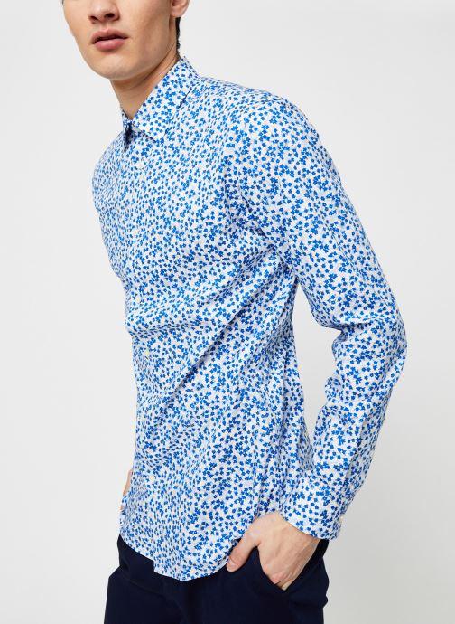 Kleding Selected Homme Slhslimpen Kenny Shirt Blauw detail