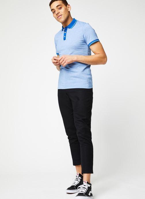 Vêtements Selected Homme Slhjoe Polo Bleu vue bas / vue portée sac