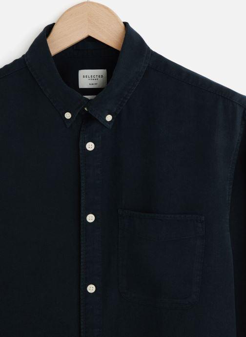 Vêtements Selected Homme Slhslimpastel Shirt Bleu vue portées chaussures