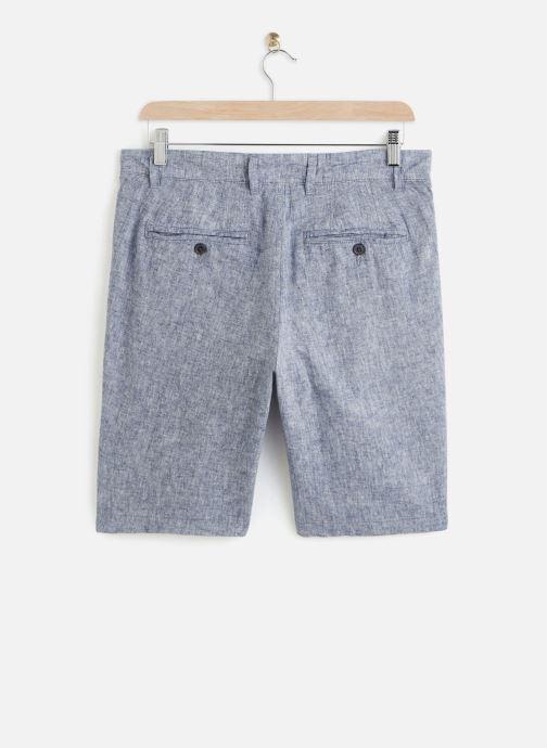 Vêtements Selected Homme Slhstraight Paris Linen Shorts Bleu vue bas / vue portée sac