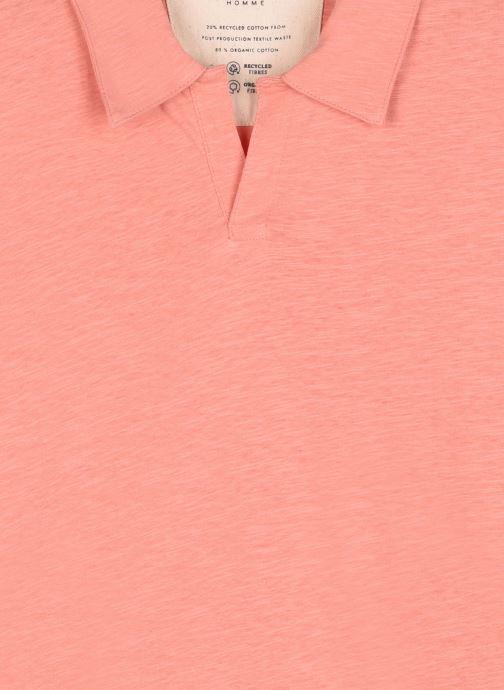 Vêtements Selected Homme Slhjared Slub Polo Orange vue face