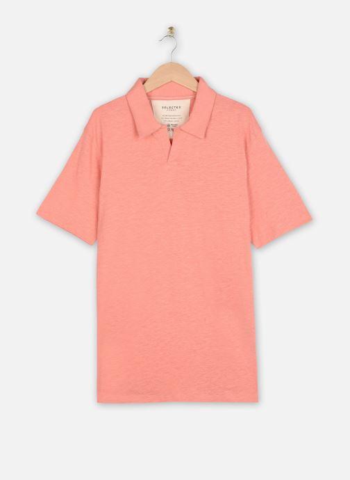 Vêtements Selected Homme Slhjared Slub Polo Orange vue détail/paire