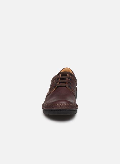 Zapatos con cordones Clarks Unstructured Nature II Marrón vista del modelo