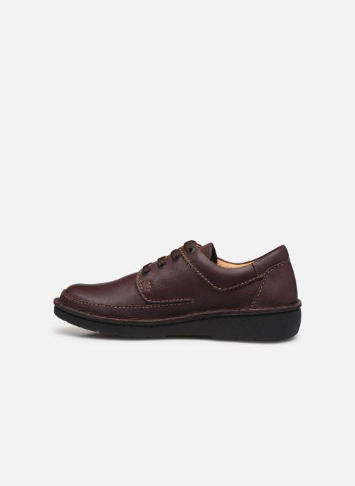 Chaussures à lacets Clarks Unstructured Nature II Marron vue face