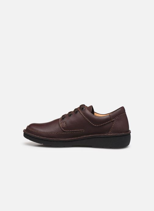 Chaussures à lacets Clarks Unstructured Nature II Marron vue face