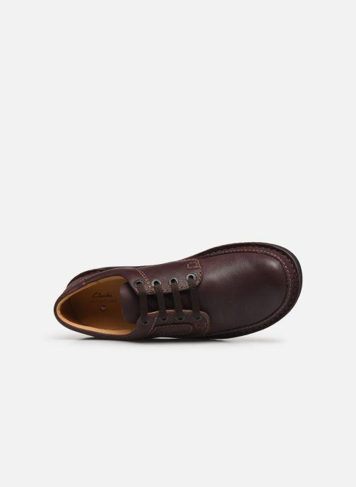Zapatos con cordones Clarks Unstructured Nature II Marrón vista lateral izquierda