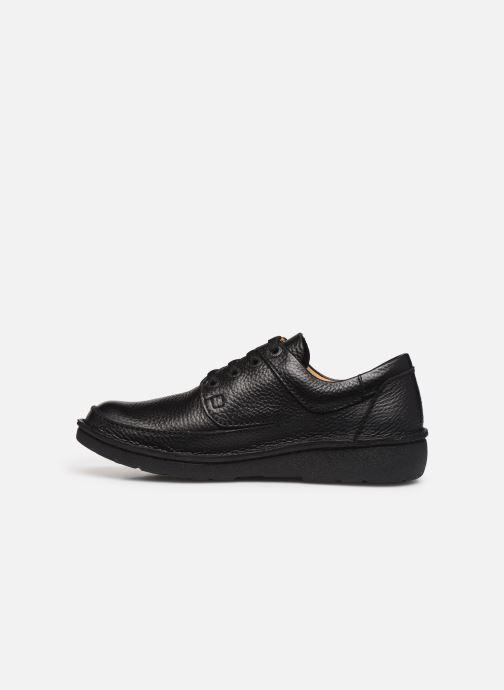 Chaussures à lacets Clarks Unstructured Nature II Noir vue face