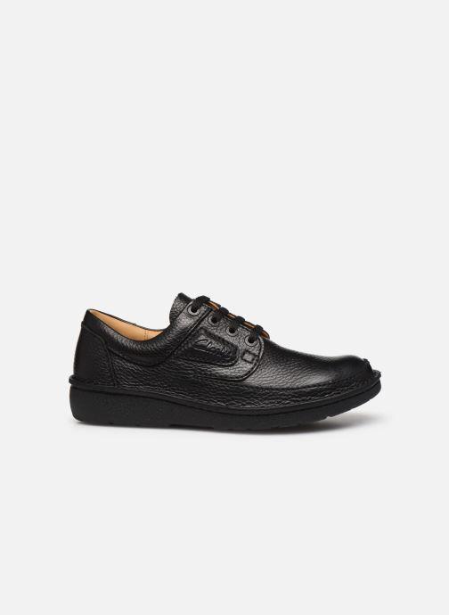 Chaussures à lacets Clarks Unstructured Nature II Noir vue derrière