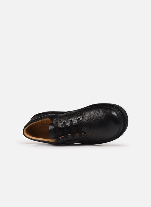 Chaussures à lacets Clarks Unstructured Nature II Noir vue gauche