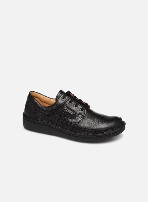 Chaussures à lacets Clarks Unstructured Nature II Noir vue détail/paire