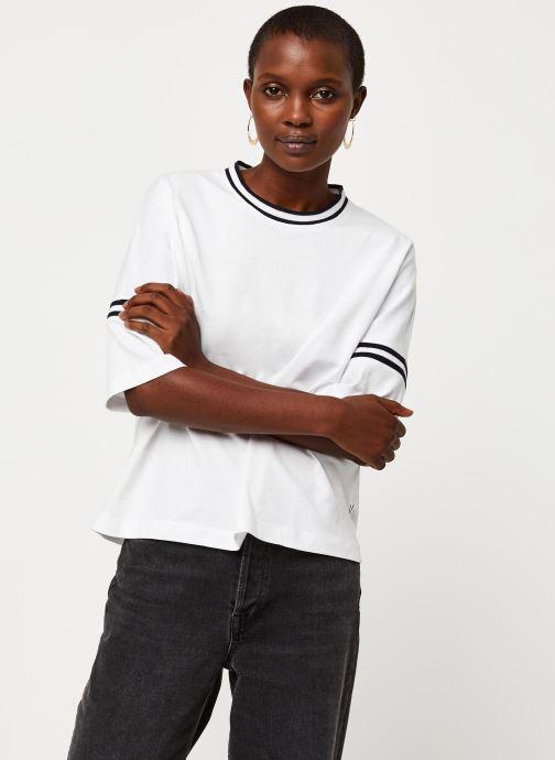 Vêtements Aigle Canut Blanc vue droite