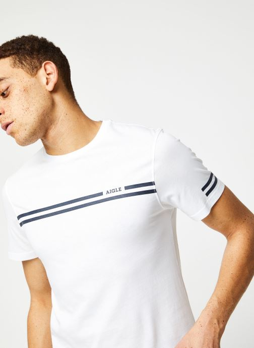 Vêtements Aigle Narendo Blanc vue face