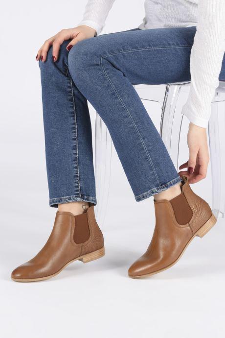 Bottines et boots Georgia Rose Roulipa Marron vue bas / vue portée sac