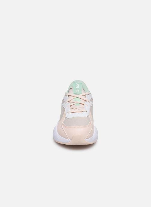 Baskets Puma Rs-X Collegiate Rose vue portées chaussures