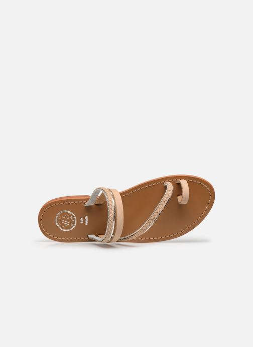 Sandals White Sun Lopha Beige view from the left