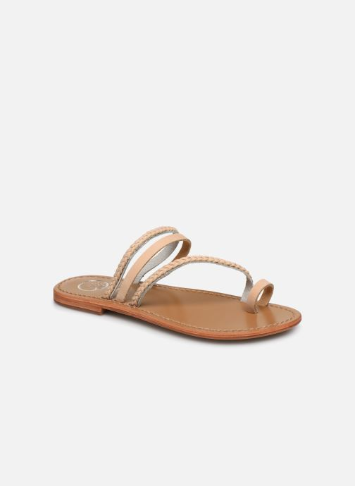 Sandals White Sun Lopha Beige detailed view/ Pair view
