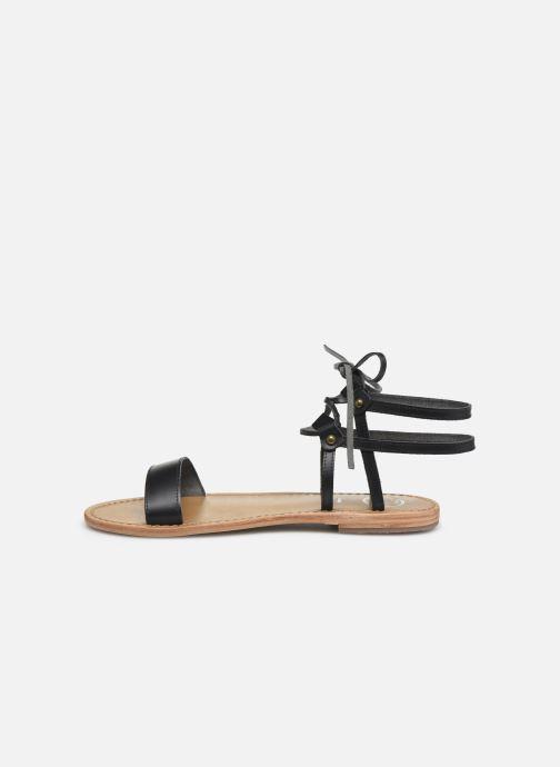 Sandales et nu-pieds White Sun Rondonia Noir vue face