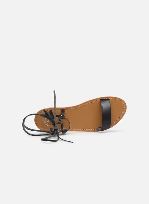 Sandales et nu-pieds White Sun Rondonia Noir vue gauche