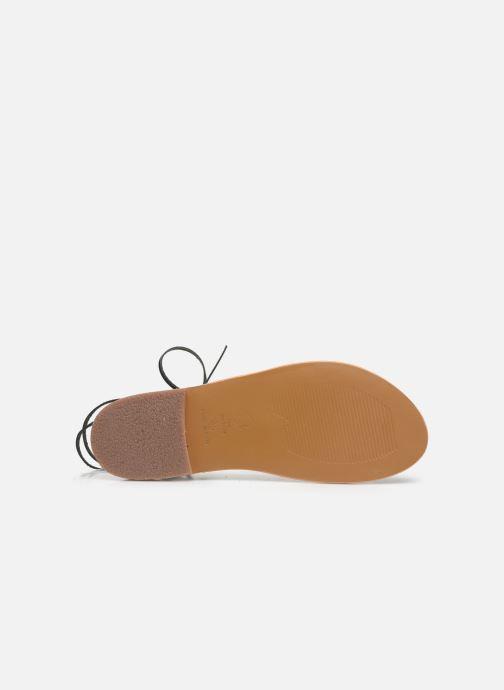 Sandales et nu-pieds White Sun Rondonia Noir vue haut
