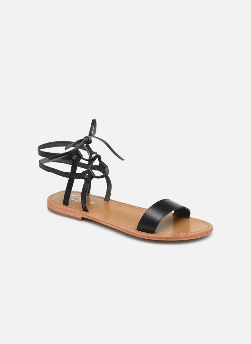 Sandales et nu-pieds White Sun Rondonia Noir vue détail/paire