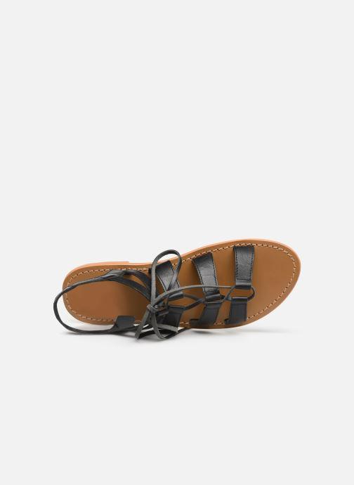 Sandali e scarpe aperte White Sun Piaui Nero immagine sinistra