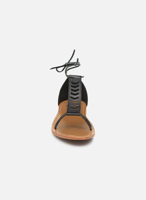 Sandales et nu-pieds White Sun Paraiba Noir vue portées chaussures