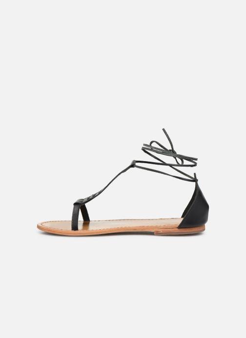 Sandali e scarpe aperte White Sun Paraiba Nero immagine frontale