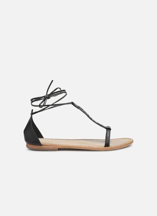 Sandales et nu-pieds White Sun Paraiba Noir vue derrière