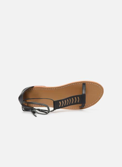 Sandales et nu-pieds White Sun Paraiba Noir vue gauche