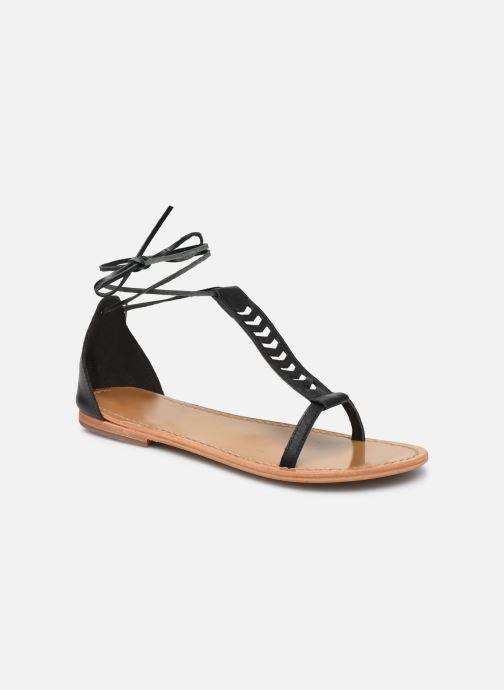 Sandales et nu-pieds White Sun Paraiba Noir vue détail/paire