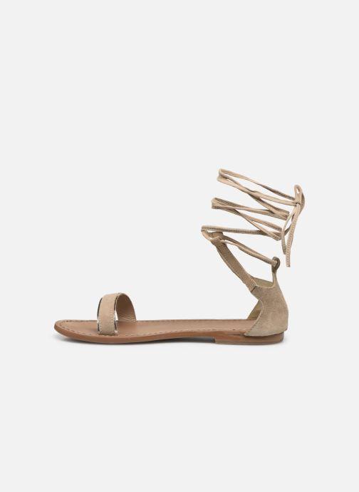 Sandales et nu-pieds White Sun Higuera Beige vue face