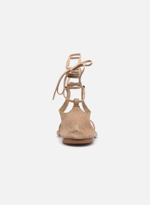 Sandales et nu-pieds White Sun Higuera Beige vue droite