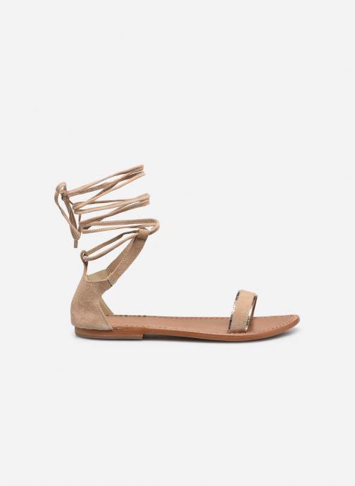 Sandales et nu-pieds White Sun Higuera Beige vue derrière