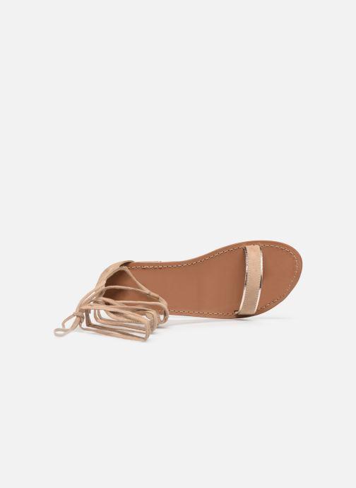 Sandales et nu-pieds White Sun Higuera Beige vue gauche