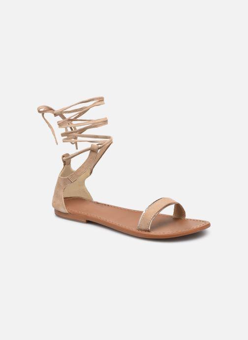 Sandales et nu-pieds White Sun Higuera Beige vue détail/paire