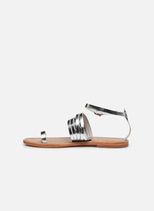 Sandali e scarpe aperte White Sun Pessoa Argento immagine frontale