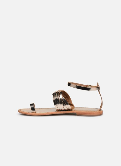Sandals White Sun Pessoa Bronze and Gold front view