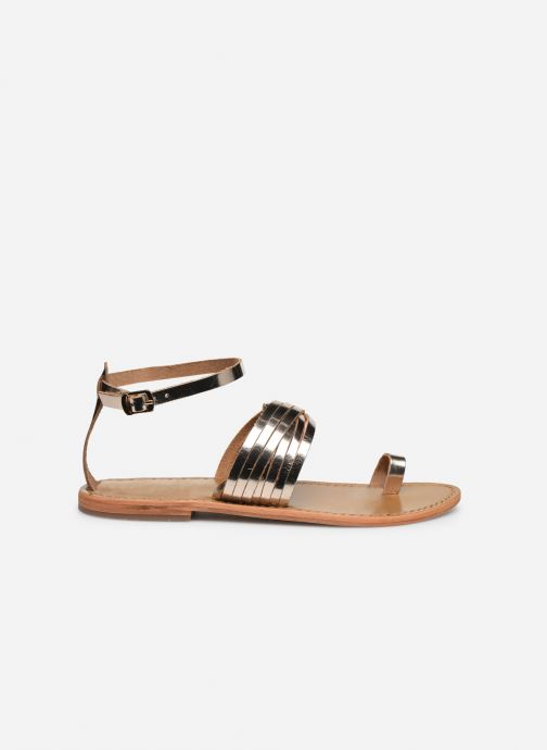 Sandals White Sun Pessoa Bronze and Gold back view