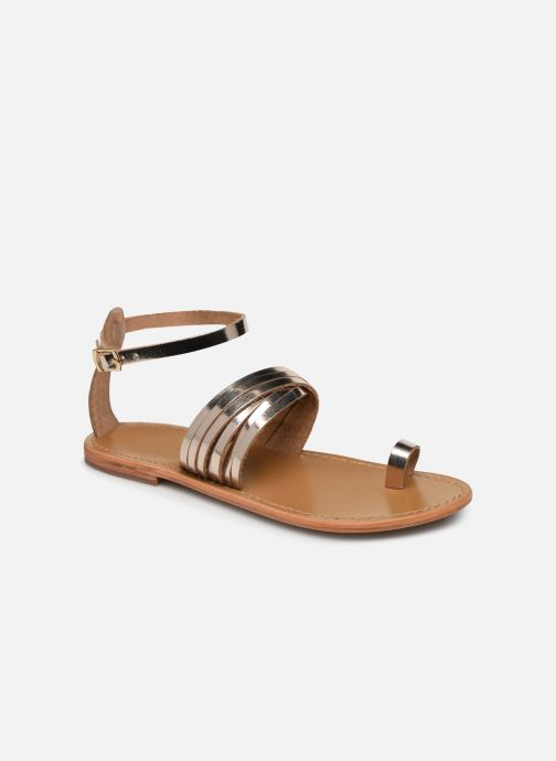 Sandals White Sun Pessoa Bronze and Gold detailed view/ Pair view