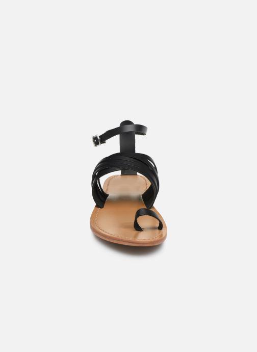Sandales et nu-pieds White Sun Pessoa Noir vue portées chaussures