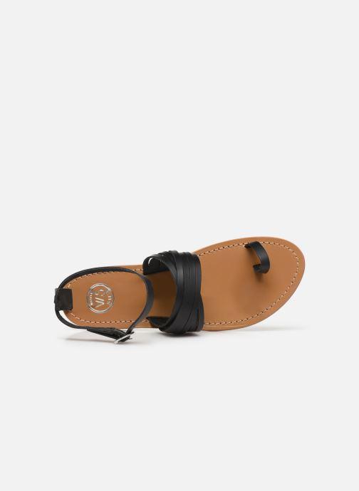 Sandales et nu-pieds White Sun Pessoa Noir vue gauche