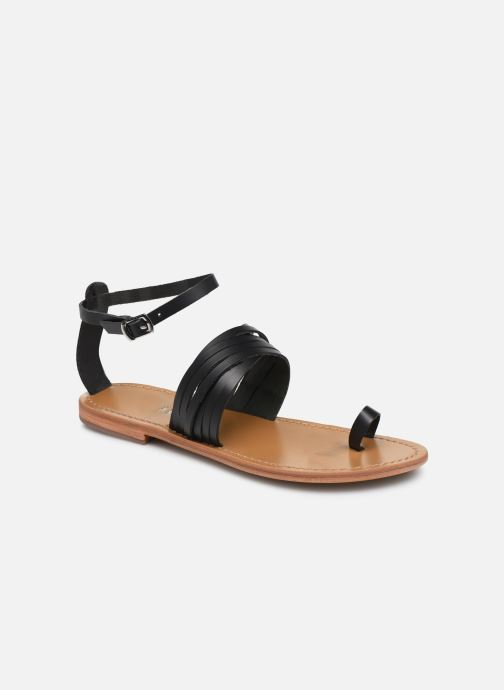 Sandales et nu-pieds White Sun Pessoa Noir vue détail/paire