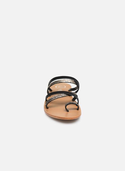 Mules et sabots White Sun Palissandra Or et bronze vue portées chaussures