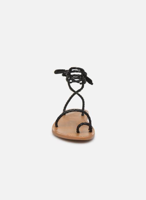 Sandales et nu-pieds White Sun Estrelicia Noir vue portées chaussures