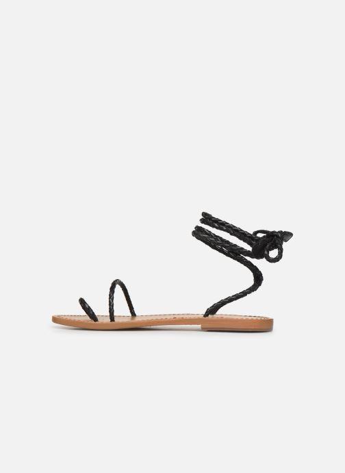 Sandales et nu-pieds White Sun Estrelicia Noir vue face