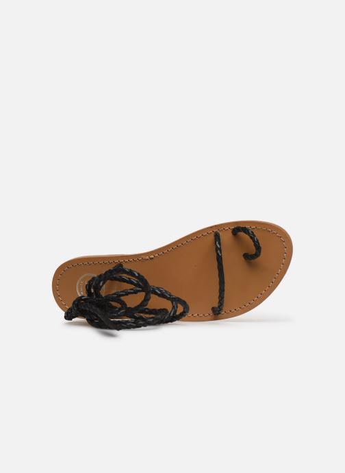 Sandales et nu-pieds White Sun Estrelicia Noir vue gauche