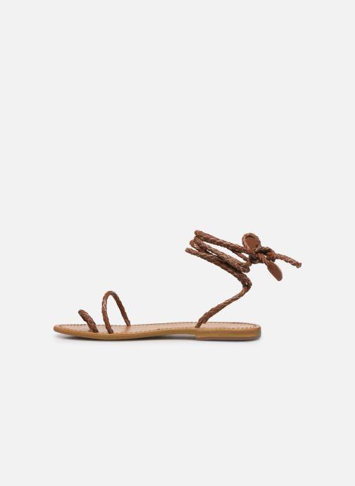 Sandales et nu-pieds White Sun Estrelicia Marron vue face