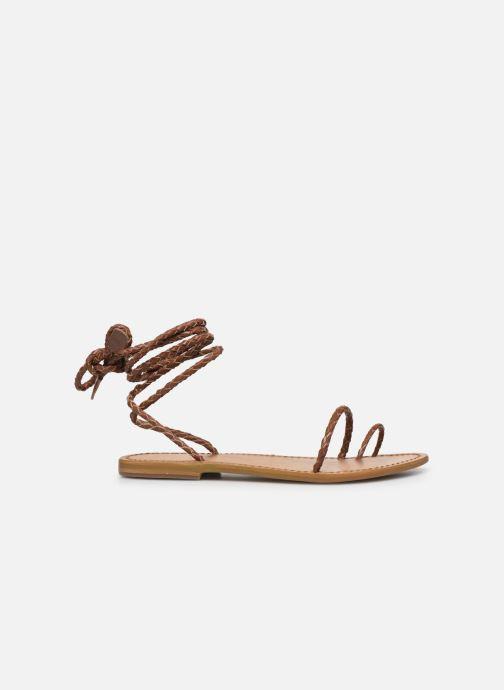 Sandales et nu-pieds White Sun Estrelicia Marron vue derrière