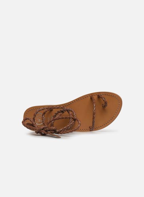 Sandales et nu-pieds White Sun Estrelicia Marron vue gauche